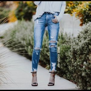 DAISY JANE II Distressed Skinny Jeans